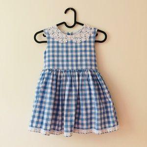 Genuine Kids Oshkosh | Blue Gingham Print Dress